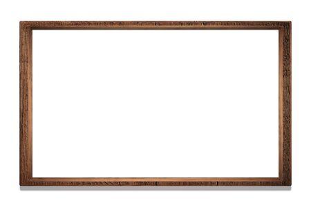 mock-up frame. wooden frame for a picture. isolate. 3d rendering. frame illustration. Rectangular mockup pattern. Stock fotó