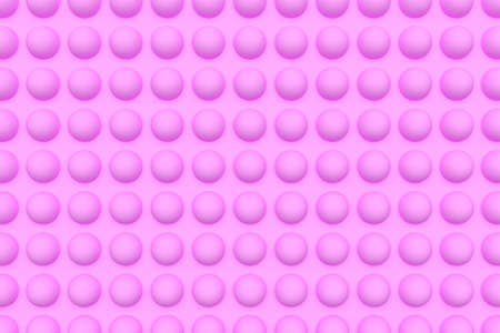 Pink background with volumetric spheres 3D rendering. Abstract pink background with circles. Banco de Imagens