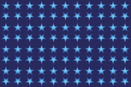 Vector illustration of a blue background with blue stars. Abstract background with star shapes