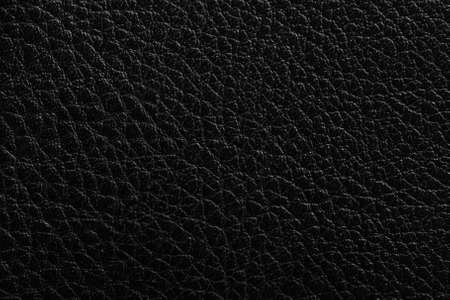 Texture in the form of black leather material with a relief top view Banco de Imagens