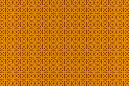 volumetric orange lace pattern from evenly spaced rings 3D rendering. orange volumetric abstract background pattern with uniform lighting