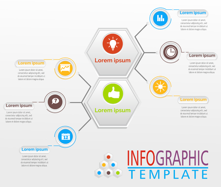 Abstract infographics. Vector business template for presentation. Creative concept for infographic. Illustrates ideas, statements, product characteristics, well defined structure.