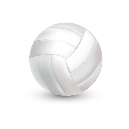White Volleyball Ball. Realistic sporting equipment. vector illustration Illusztráció