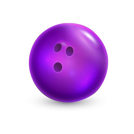Bowling ball. Isolated on a white background. Vector illustration