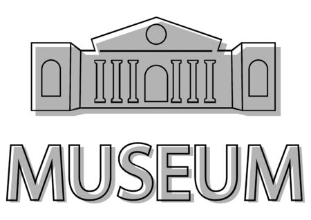 Museum Building icon. Museum icon. Logo of museum in flat style iconic symbol. Building in black color, isolated on white background