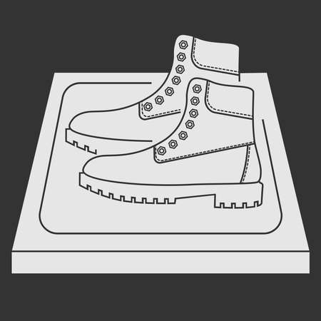 Sanitizing mat in the glyph. Antibacterial equipped in flat style. Disinfection carpet for shoes. Shoes disinfection. Sterile surface. Vector illustration isolated on white background Illustration