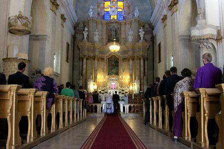 catholic wedding: Wedding in a Catholic church