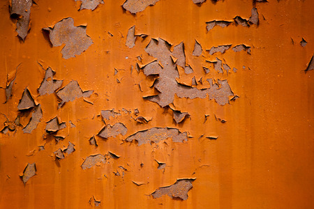 peeled off: The pattern of mettal peeled off door