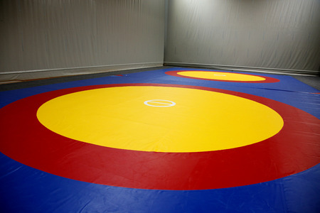 The wrestling mat Stock Photo