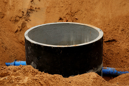 catheters: Concrete pipe in sand