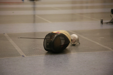 fencing sword: Fencing: sword and mask