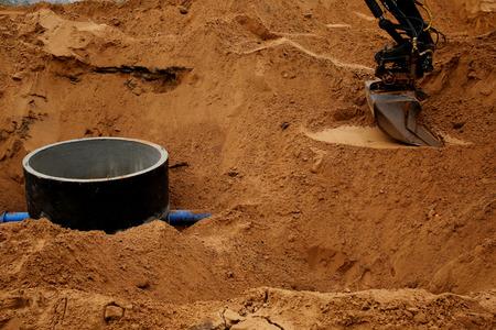 digging: Digging excavator bucket