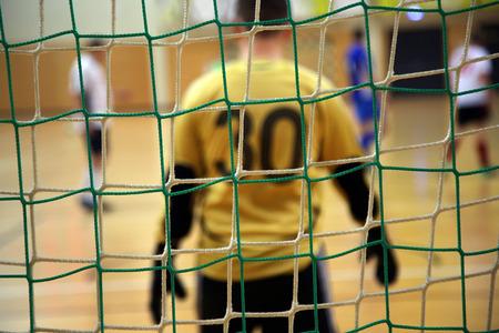futsal: futsal goalkeeper Stock Photo