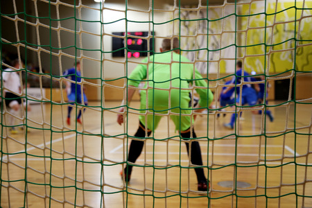 futsal goalkeeper Stock Photo