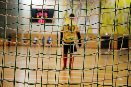 futsal goalkeeper Stock Photo