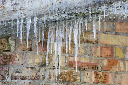 dangerously: The icicles on the wall. The Winter scene