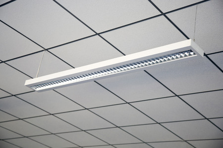 Lamp of day light in office ceiling