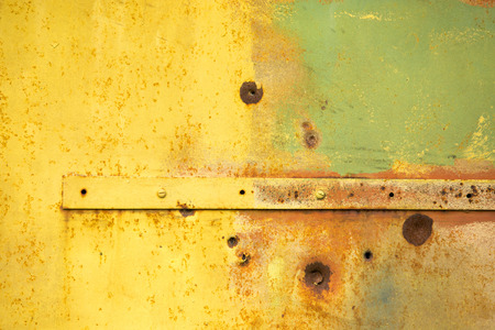 rivets: Texture: colored metal gates. Background. Abstract. Metal rivets Stock Photo