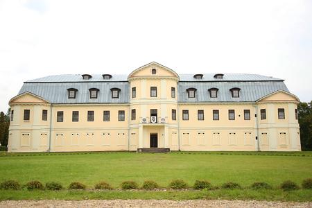 plater: KRASLAVA, LATVIA - 15 September, 2015. Counts manor of Earl Plater. 19th century in Kraslava (Latvia)