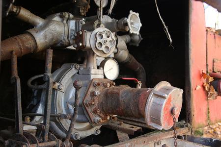 FIRE ENGINE: moteur de feu cru abandonné. Contexte partie eith bouche d'incendie