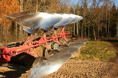 tree disc: Agricuture - special metal plow on the tractor