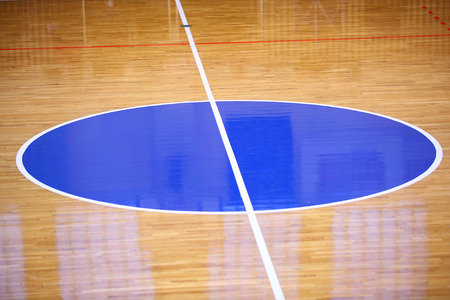 Basketball field background, Center of play ground Stock Photo