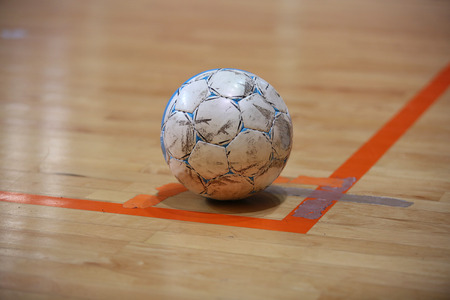 The futsal ball on the corner before kick Standard-Bild