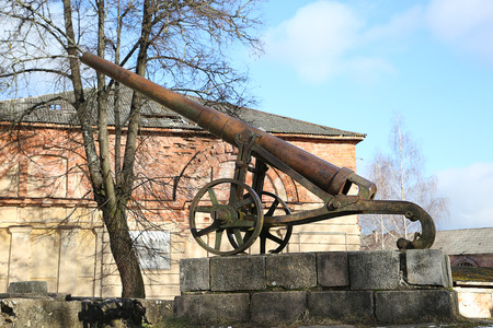 19th: Monument of cannon of 19th century in Daugavpils fortness
