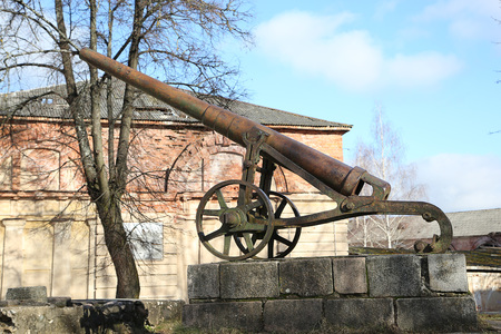 the 19th century: Monument of cannon of 19th century in Daugavpils fortness