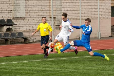 episode: DAUGAVPILS, LATVIA - April 3, 2016: Episode of football match in Daugavpils. Latvian championship high league. BFC Daugavpils - RFS 1:0 Editorial
