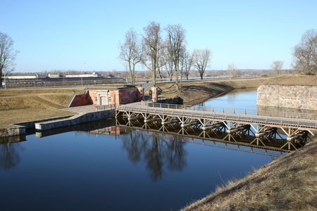 Dawns of the Daugavpils fortress during the spring high water