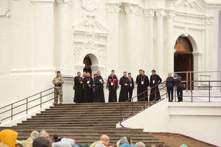 24.09.2018. AGLONA, LATVIA. His Holiness Pope Francis visit Aglona. People wait Pope Francis