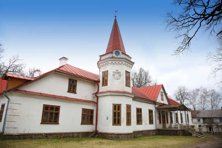 ARENDOLE, LATVIA - April 18, 2018 Manor of 19th century in Latvia