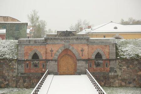 Snowy day in May in Daugavpils (Latvia)