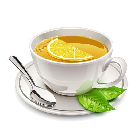 Tasse Tee mit Zitrone