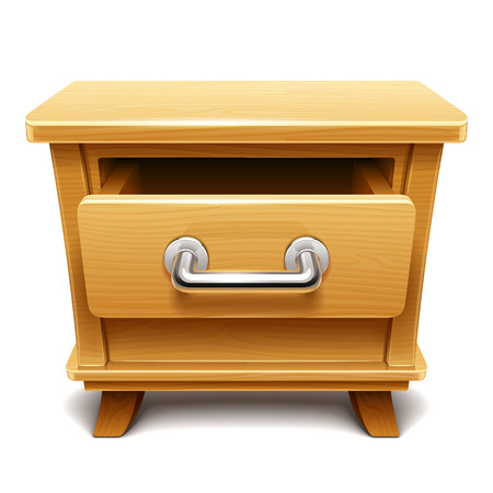 drawers: Wooden drawer illustration