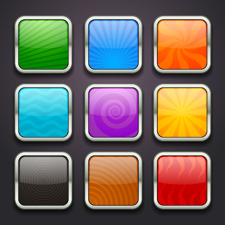 blue button: background for the app icons-part 3