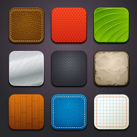 square buttons: background for the app icons-part 4