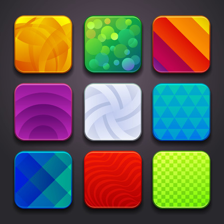 background for the app icons-part 6 Vettoriali