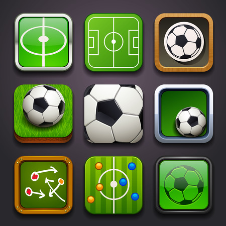 schemes: background for the app icons-soccer part Illustration