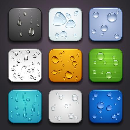 manzana agua: fondo para la parte ca�da de aplicaciones iconos de agua