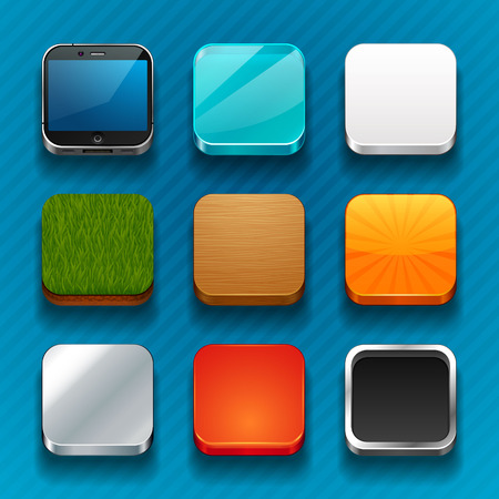 square buttons: background for the app icons