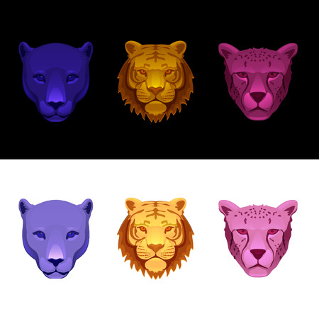vinyl cutting: big cat set-tiger, cheetah, panther