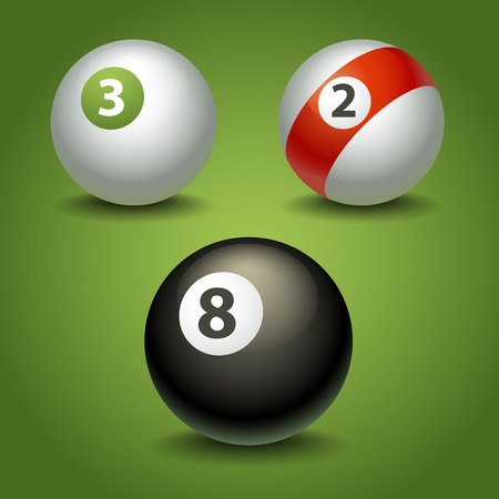bola ocho: bolas de billar