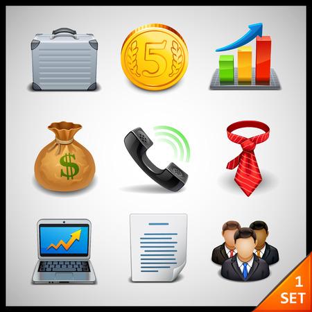 may�sculas: iconos de negocios - conjunto 1