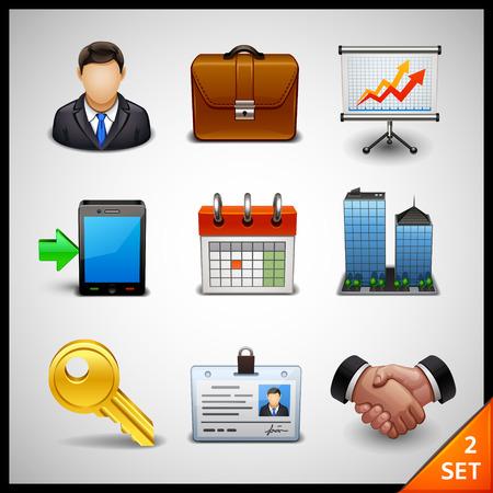 organigrama: iconos de negocios - conjunto 2
