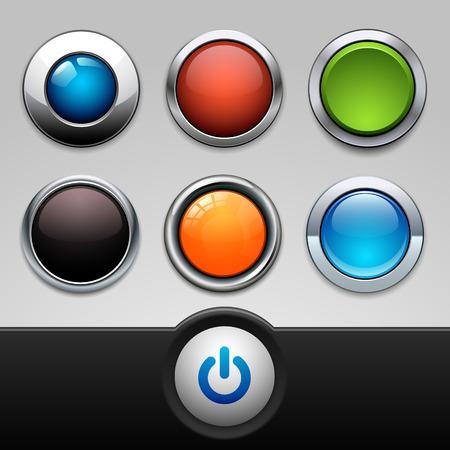 button set: button set Illustration