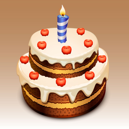 birthday cakes: cake Illustration