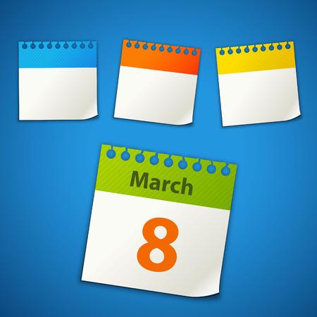 kalendarium: naklejki kalendarz Ilustracja