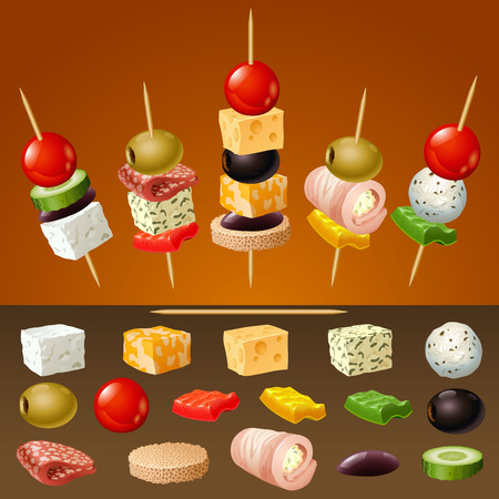 Vector canapes Stockfoto - 36273789